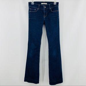 J Brand Blue Denim Five Pocket Boot Cut Jeans